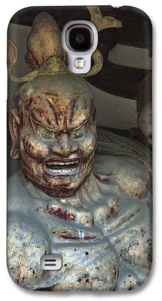 Statue Portrait Galaxy S4 Cases - Horyu-ji Temple Gate Guardian - Nara Japan Galaxy S4 Case by Daniel Hagerman