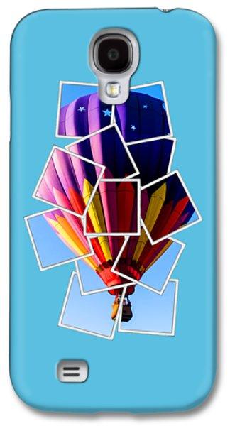 Shirt Digital Galaxy S4 Cases - Hot Air Balloon Tee Galaxy S4 Case by Edward Fielding