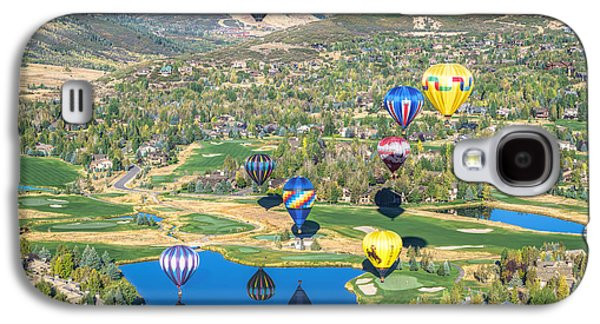 Hot Air Balloons Over Park City Galaxy S4 Case by James Udall