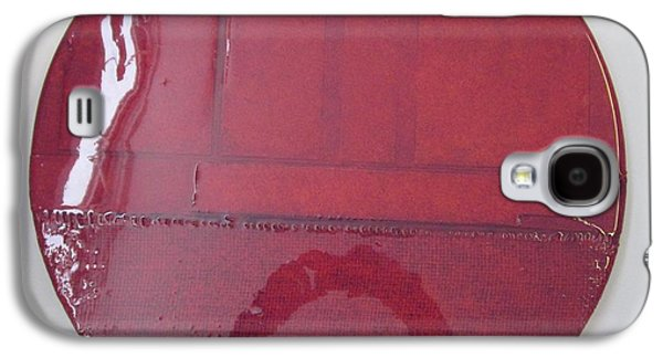 Abstracted Reliefs Galaxy S4 Cases - Hot Burgandy Galaxy S4 Case by Patterson Parkin