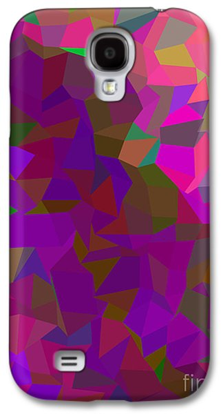 Colorful Abstract Galaxy S4 Cases - Hot Pink Poly Galaxy S4 Case by Anita Fugoso