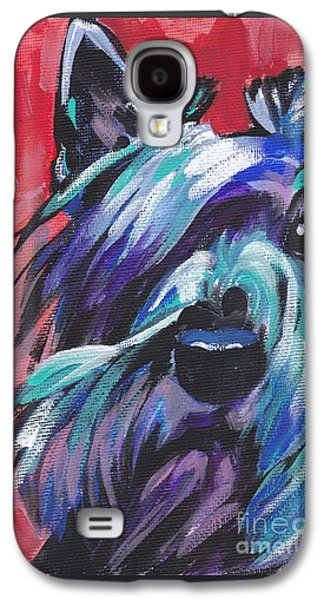 Scottish Dog Paintings Galaxy S4 Cases - Hot Scot Galaxy S4 Case by Lea