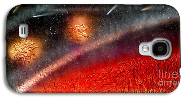 Landscapes Glass Art Galaxy S4 Cases - Hot Space Galaxy S4 Case by Rick Silas