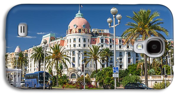 Landmarks Photographs Galaxy S4 Cases - Hotel Negresco on English promenade in Nice Galaxy S4 Case by Elena Elisseeva