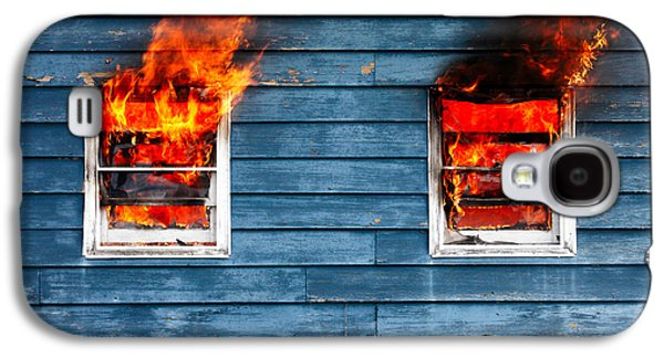 House On Fire Galaxy S4 Case by Todd Klassy