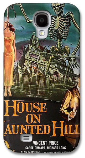 Posters On Mixed Media Galaxy S4 Cases - House On Haunted Hill 1958 Galaxy S4 Case by Mountain Dreams