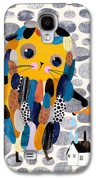 House Digital Art Galaxy S4 Cases - Housekeeper Galaxy S4 Case by Anne Vasko