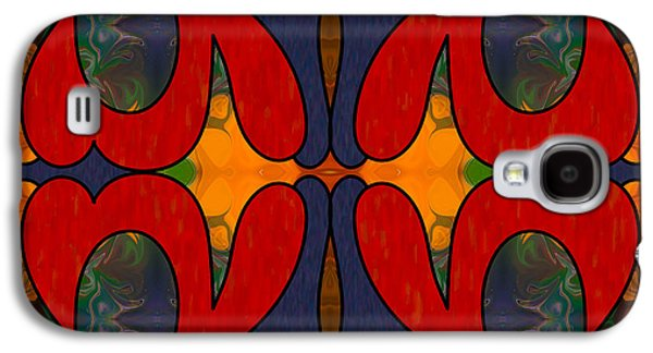 Peaches Drawings Galaxy S4 Cases - How Sweet It Is Abstract Art by Omashte Galaxy S4 Case by Omaste Witkowski