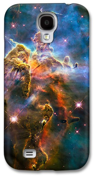 Jet Star Galaxy S4 Cases - Hubble Captures View of Mystic Mountain Galaxy S4 Case by Marco Oliveira