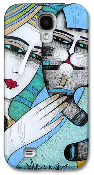 Animals Love Galaxy S4 Cases - Hug Galaxy S4 Case by Albena Vatcheva