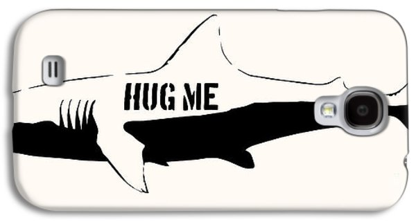 Hug Me Shark - Black  Galaxy S4 Case by Pixel  Chimp