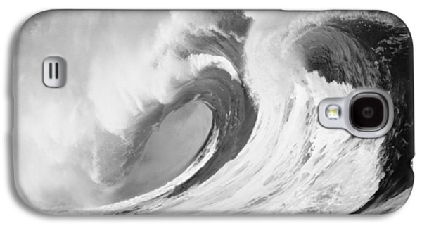 Turbulent Skies Galaxy S4 Cases - Huge Curling Wave - BW Galaxy S4 Case by Ali ONeal - Printscapes