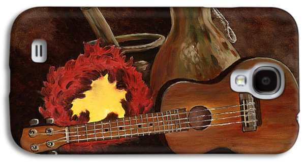 Ukelele Galaxy S4 Cases - Hula Implements Galaxy S4 Case by Larry Geyrozaga