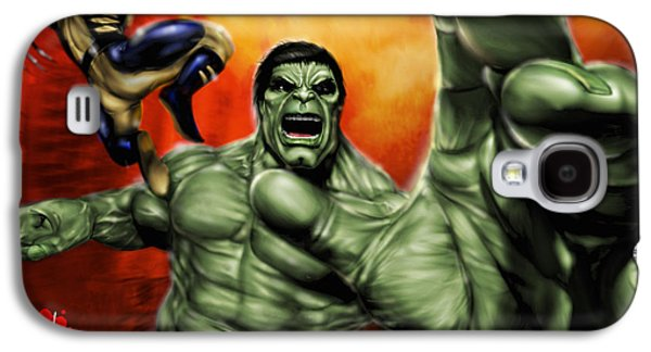 Pete Tapang Galaxy S4 Cases - Hulk Galaxy S4 Case by Pete Tapang