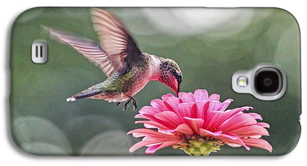 Business Galaxy S4 Cases - Hummingbird And Zinnia Galaxy S4 Case by Geraldine Scull