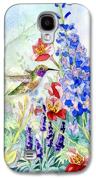 Hummingbird Garden In Spring Galaxy S4 Case by Audrey Jeanne Roberts
