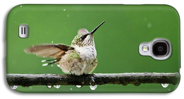 Hummingbird In The Rain Galaxy S4 Case by Christina Rollo