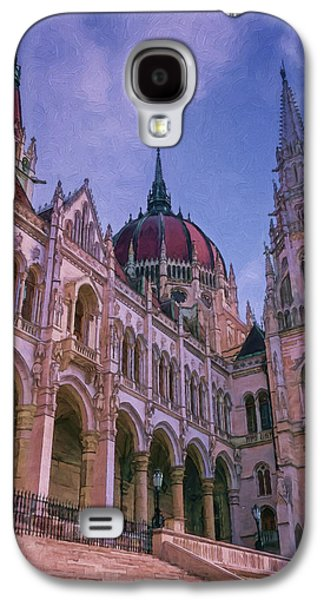 Light Galaxy S4 Cases - Hungarian Parliament Riverside Galaxy S4 Case by Joan Carroll