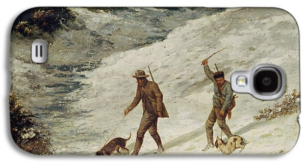 Hunters In The Snow Or The Poachers Galaxy S4 Case by Gustave Courbet