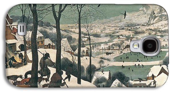 Winter Landscapes Galaxy S4 Cases - Hunters in the Snow Galaxy S4 Case by Pieter the Elder Bruegel