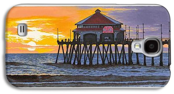 Coast Hwy Ca Galaxy S4 Cases - Huntington Pier Sunset Galaxy S4 Case by Andrew Palmer
