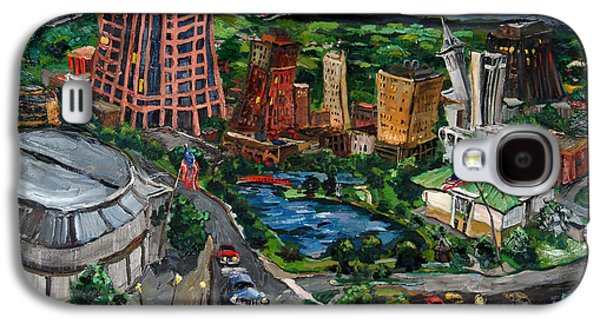 Museum Paintings Galaxy S4 Cases - Huntsville Skyline Galaxy S4 Case by Carole Foret
