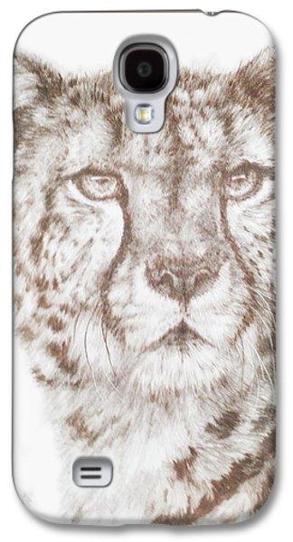 Cheetah Drawings Galaxy S4 Cases - Hustle Galaxy S4 Case by Barbara Keith