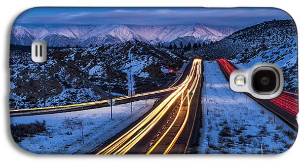 Hwy. 395 At Blue Hour Galaxy S4 Case by Cat Connor