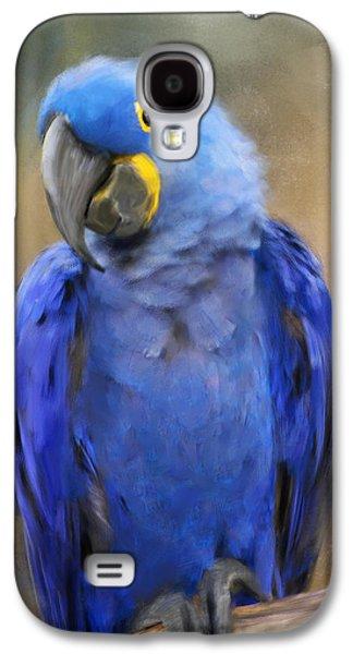 Hyacinth Macaw  Galaxy S4 Case by Jai Johnson