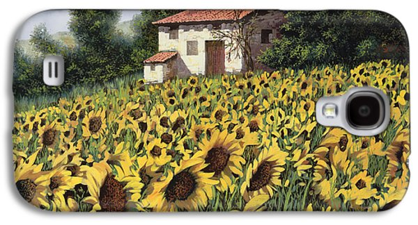 Guido Galaxy S4 Cases - I Girasoli Nel Campo Galaxy S4 Case by Guido Borelli
