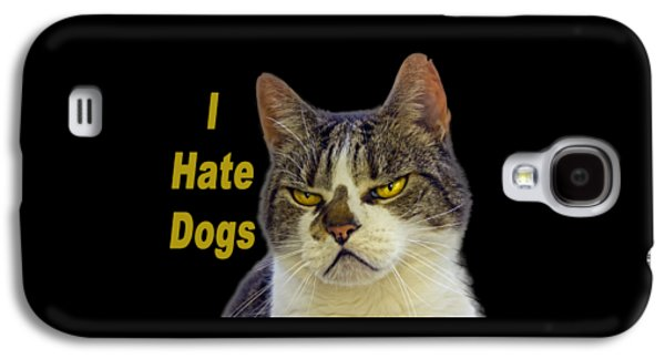 Dogs Digital Galaxy S4 Cases - I hate dogs Galaxy S4 Case by Thanet Photos