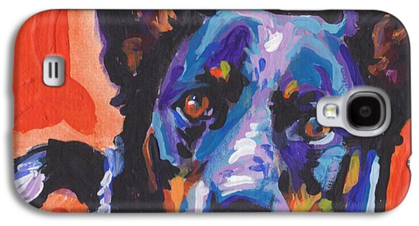 Cattle Dog Galaxy S4 Cases - I Heal You Galaxy S4 Case by Lea
