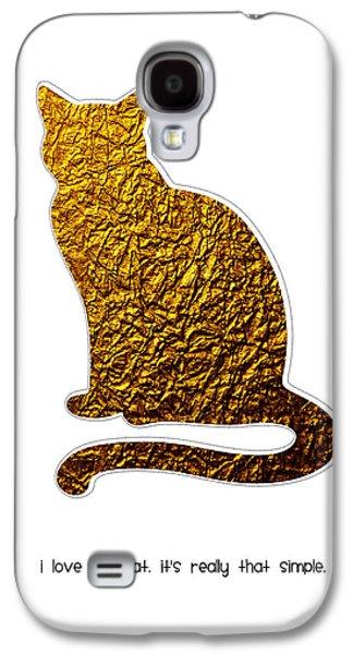 I Love My Cat Galaxy S4 Case by Shivonne Ross