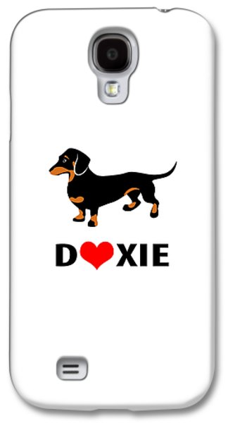Dachshund Digital Galaxy S4 Cases - I Love My Doxie Galaxy S4 Case by Antique Images