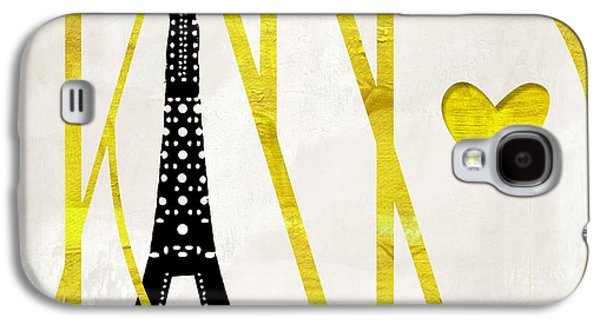 I Love Paris Galaxy S4 Case by Mindy Sommers