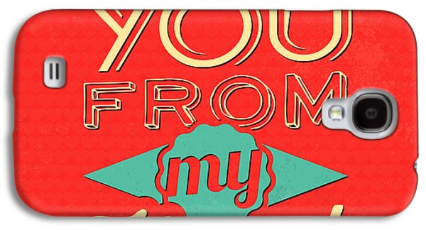 I Love You From My Heart Galaxy S4 Case by Naxart Studio