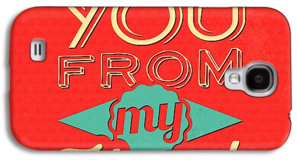 Laugh Galaxy S4 Cases - I Love You From My Heart Galaxy S4 Case by Naxart Studio