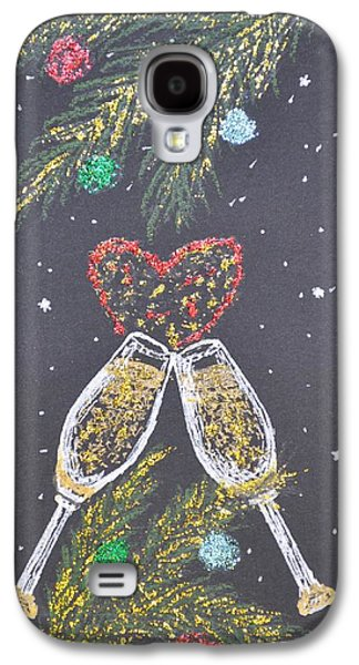 Champagne Paintings Galaxy S4 Cases - I Love You Galaxy S4 Case by Georgeta  Blanaru