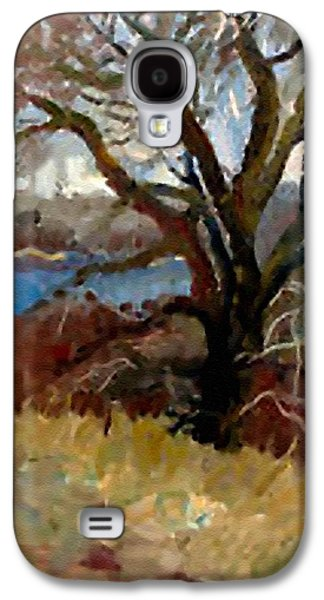 Abstract Digital Pastels Galaxy S4 Cases - I Passed a Tree on my Path  H b Galaxy S4 Case by Gert J Rheeders