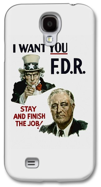 Democrats Galaxy S4 Cases - I Want You FDR  Galaxy S4 Case by War Is Hell Store