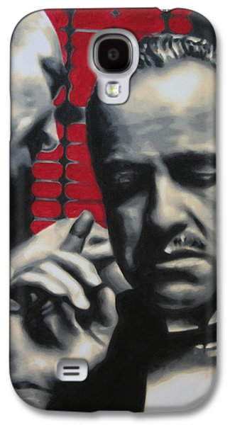 Boss Paintings Galaxy S4 Cases - I Want You To Kill Him 2013 Galaxy S4 Case by Luis Ludzska