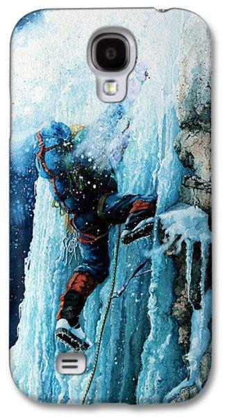 Sports Artist Galaxy S4 Cases - Ice Climb Galaxy S4 Case by Hanne Lore Koehler