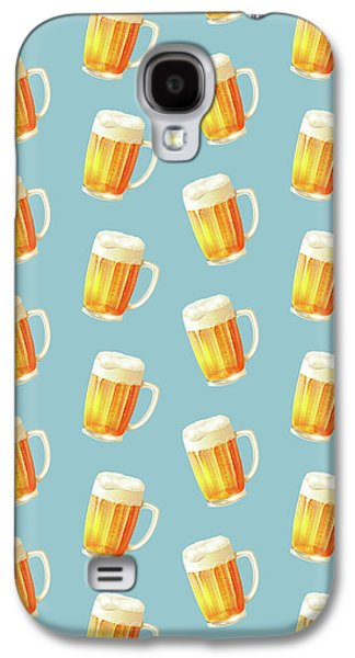 Ice Cold Beer Pattern Galaxy S4 Case by Little Bunny Sunshine