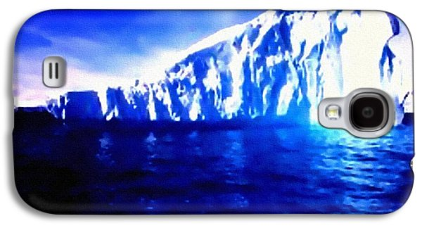Abstract Digital Pastels Galaxy S4 Cases - Iceberg - Titanic Style H b Galaxy S4 Case by Gert J Rheeders