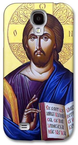 Orthodox Icon Galaxy S4 Cases - Icon of Christ in Jericho Galaxy S4 Case by Munir Alawi