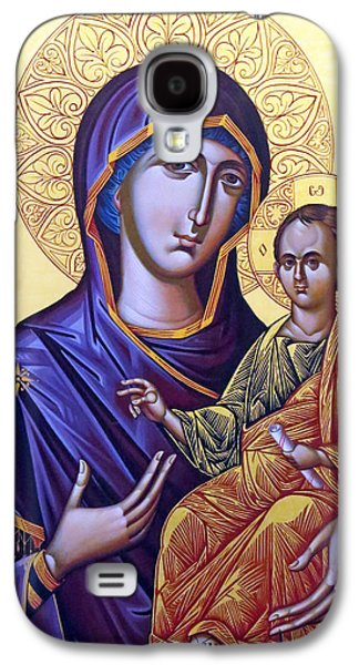 Orthodox Icon Galaxy S4 Cases - Icon of Mary and the child  Galaxy S4 Case by Munir Alawi