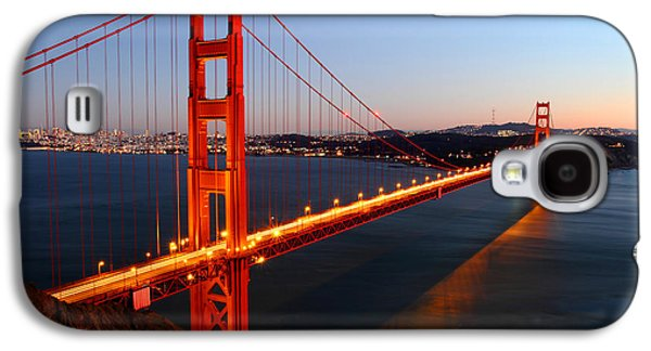 Light Galaxy S4 Cases - Iconic Golden Gate Bridge in San Francisco Galaxy S4 Case by Pierre Leclerc Photography