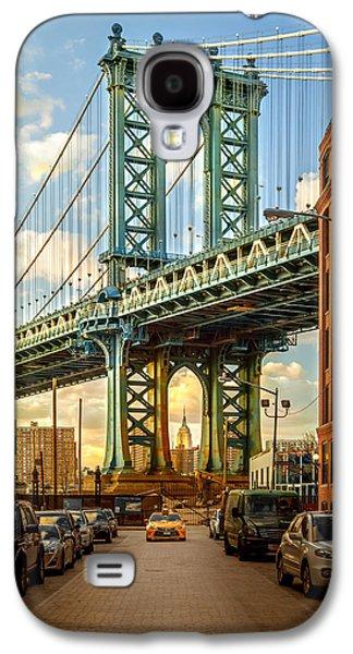 Famous Bridge Galaxy S4 Cases - Iconic Manhattan Galaxy S4 Case by Az Jackson