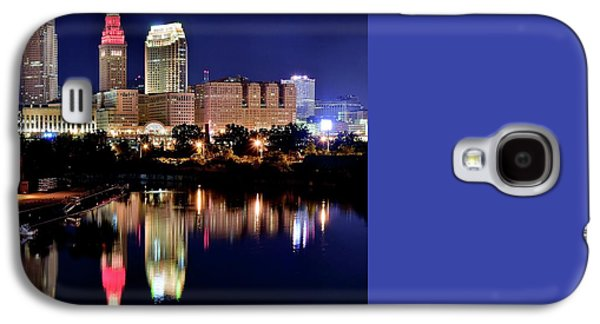 Iconic Night View Of Cleveland Galaxy S4 Case by Frozen in Time Fine Art Photography