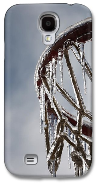 Basketballs Galaxy S4 Cases - Icy Hoops Galaxy S4 Case by Nadine Rippelmeyer
